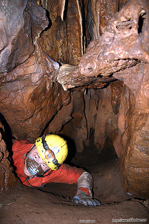 Ric checking possible leads in Mohu Cave