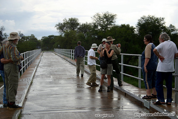 site seeing at the bridge across the Limpopo.