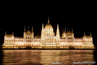 Parliment building at night, Budapest.