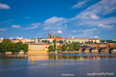 View by the St. Charles bridge, Prague