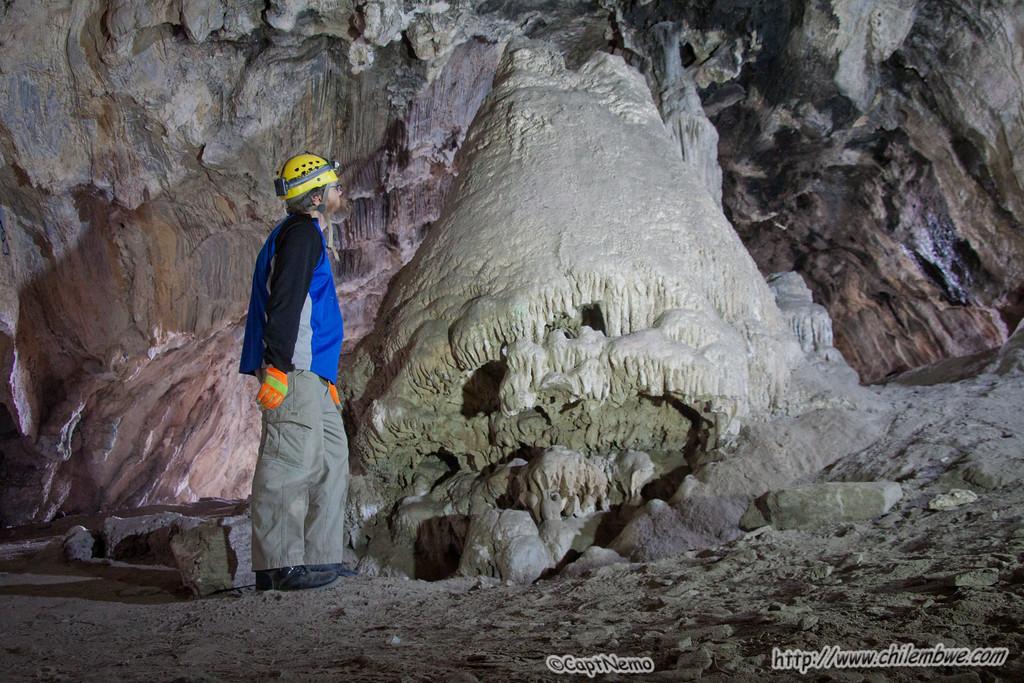 large stalagmite / mound