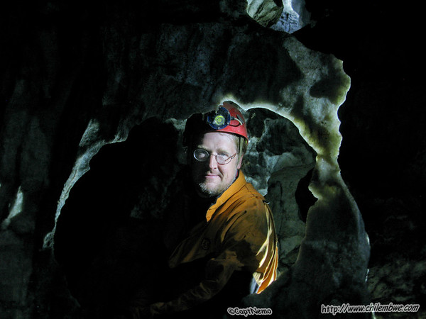 Stephen in the cave.